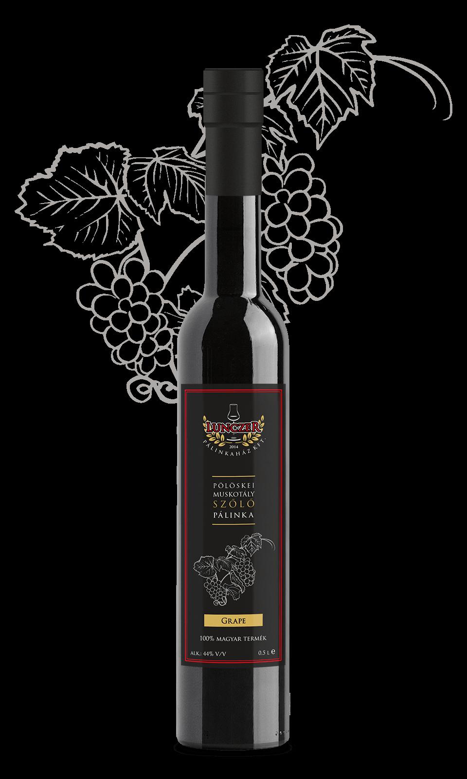 lunczer prémium pölöskei muskotály szőlő pálinka